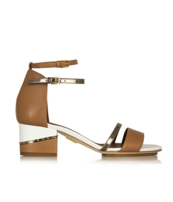 Maiyet Metallic-paneled leather sandals