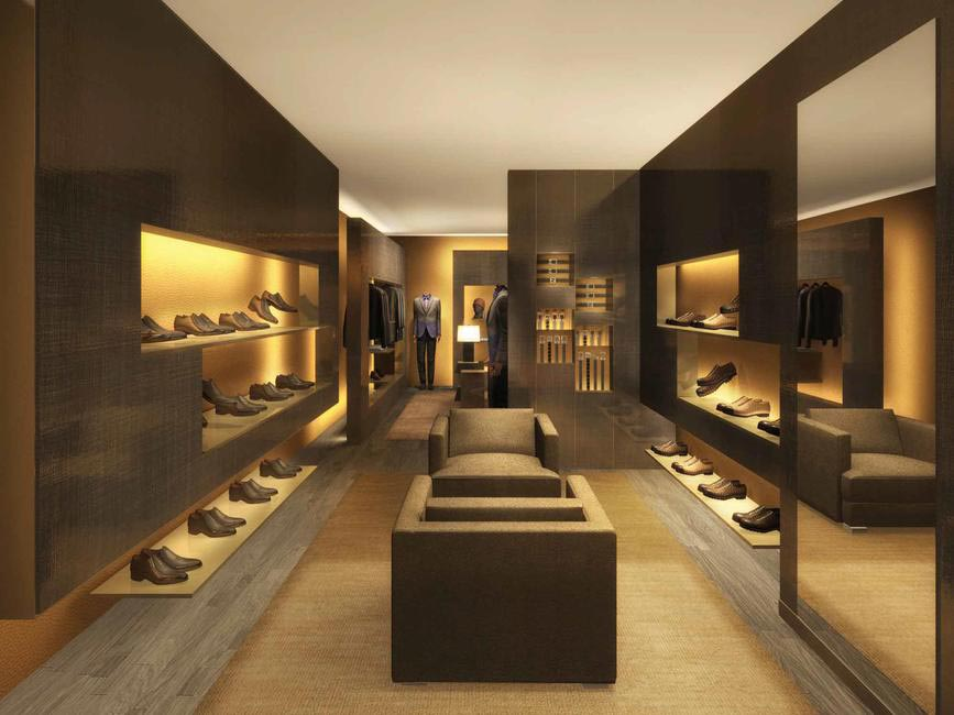 Men's seciton inside Fendi's Flagship Store