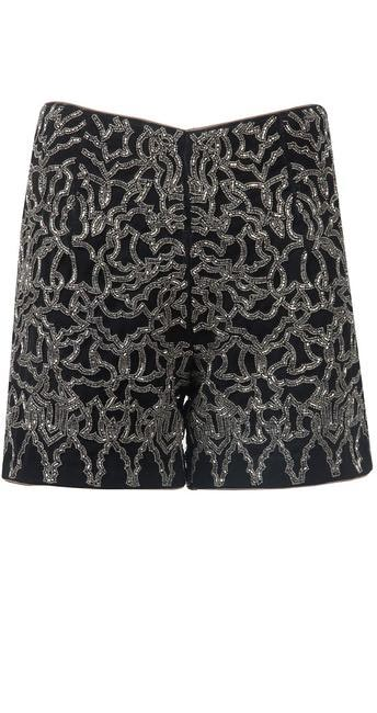 Metal Embellished Black Shorts, Bhavya Bhatnagar, INR 16,800
