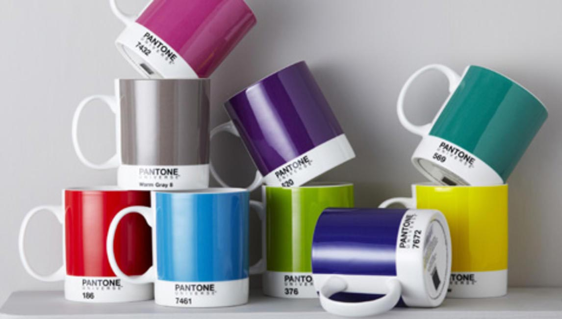 Pantone cups at Le Mill
