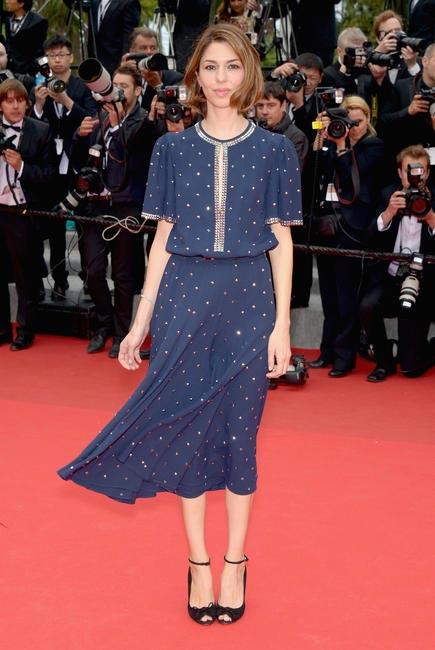 Sofia Coppolain Michael Kors at Cannes 2014