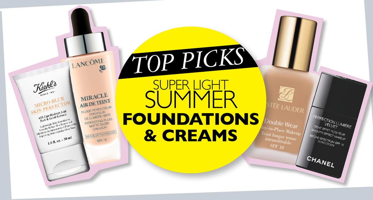 Super light summer creams and foundations