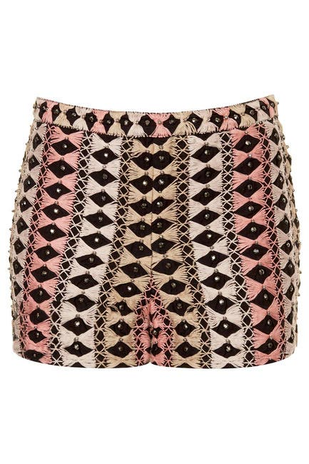 Thread Bead Embroidered Shorts, Topshop, INR 5,800