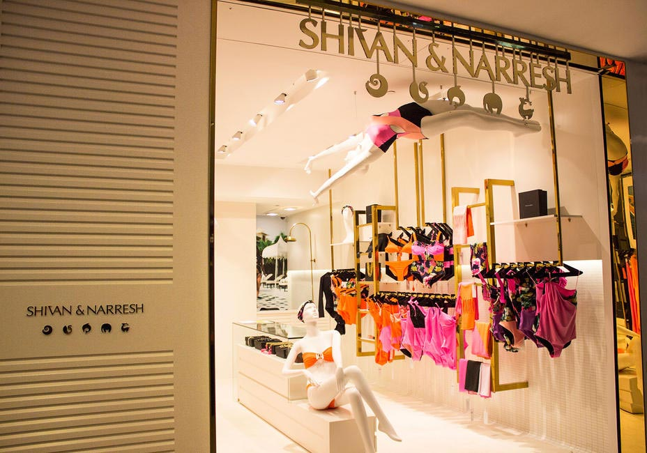 Tiled midwall gives the swimming pool effect to the SHIVAN & NARRESH store at Select Citywalk
