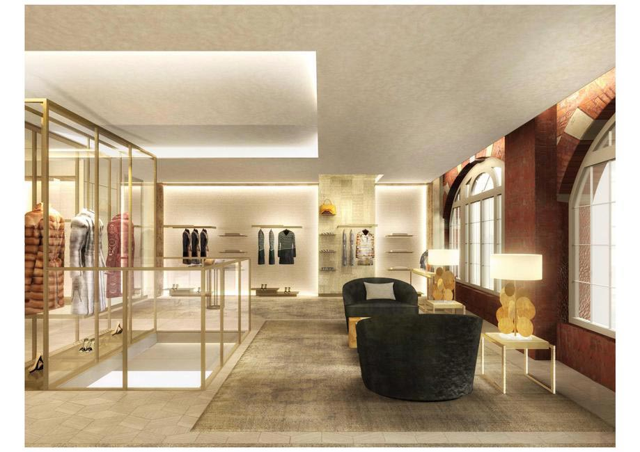 Women's section in Fendi's Bond Street Flagship Store