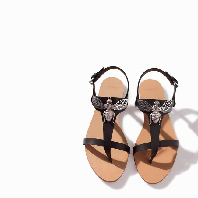 ZARA Flat Leather Sandal With Decorative Detail Rs. 2,890