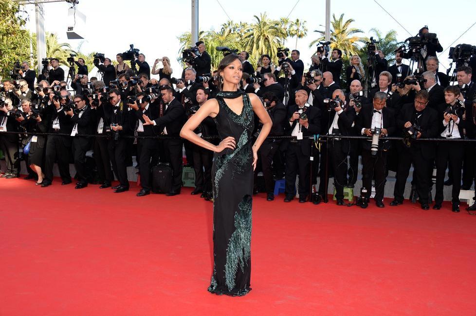 Zoe Saldana for Loreal Paris at Cannes 2014 Day 2