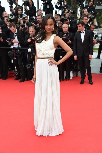 ZOE SALDANA for Loreal Paris at Cannes 2014_1