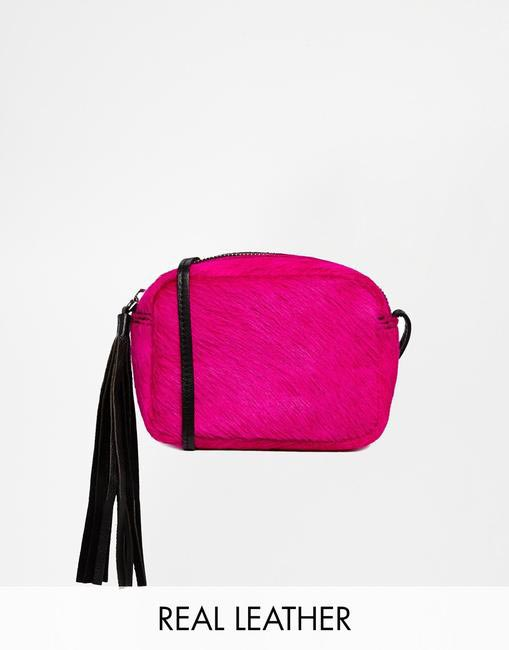 Pony Effect Leather Cross Body Bag, ASOS, INR 2,100 (Approx)