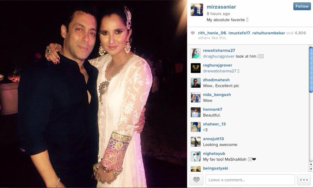 Sania Mirza with Salman Khan