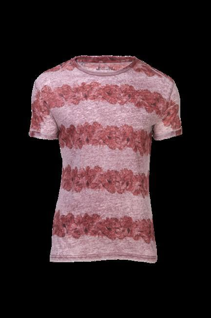 Red Round Neck T-Shirt, Burton, INR 2240