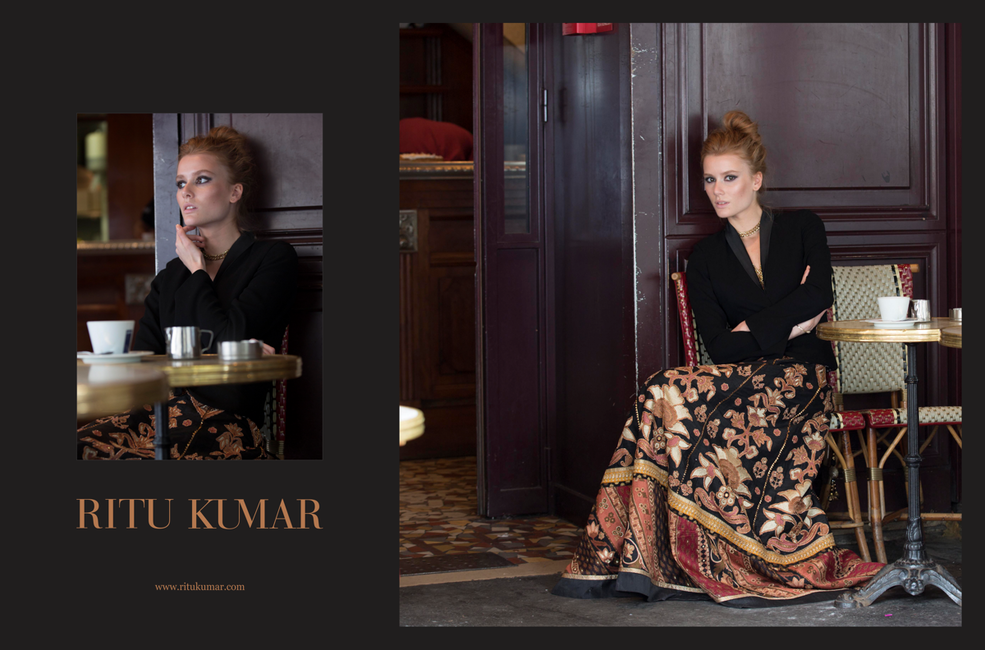 Ritu Kumar W:F 2014 collection feaures a mix of contemporary and traditional aesthetics