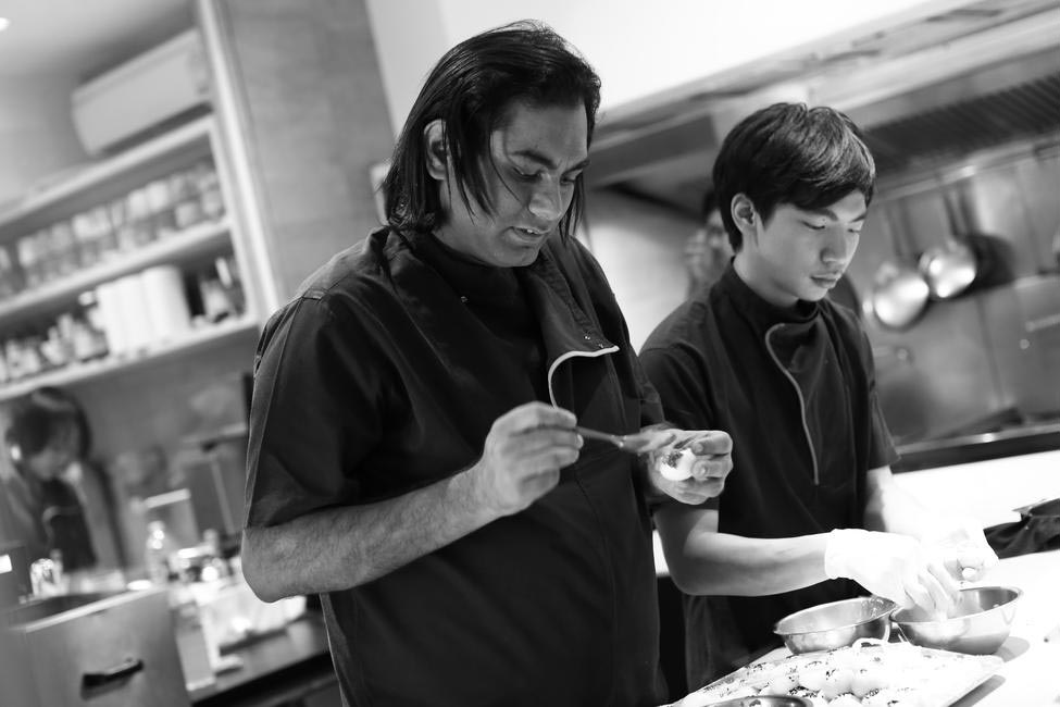 Chef Gaggan Anand doing what he does best