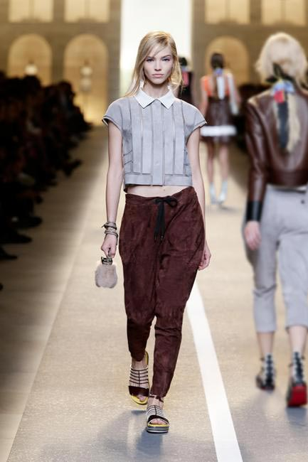 Crop-tops and trousers