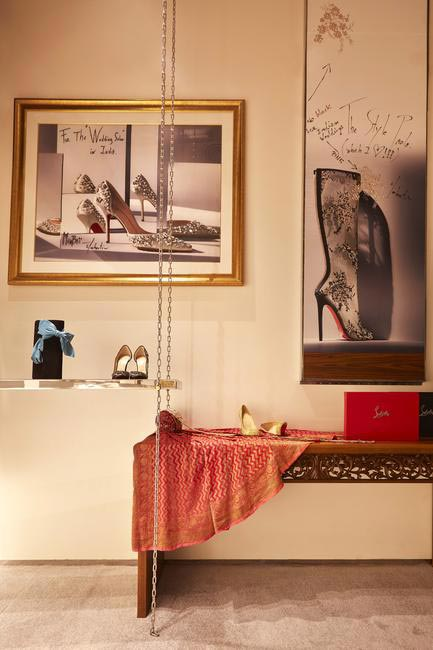 Hand drawn panels selected by designer Christian Louboutin