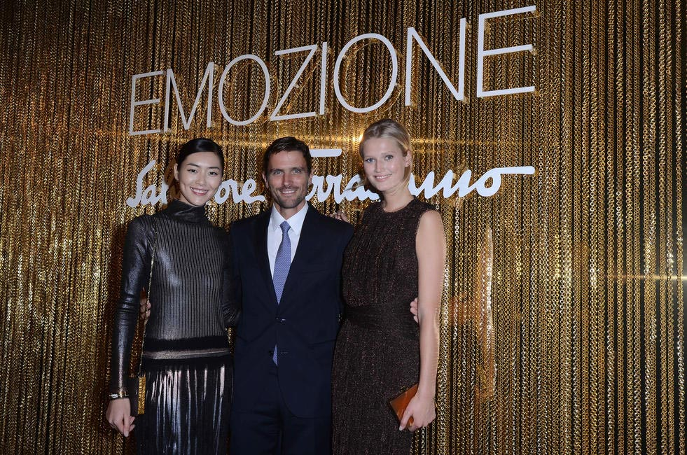 Liu Wen, James Ferragamo and Toni Garrn