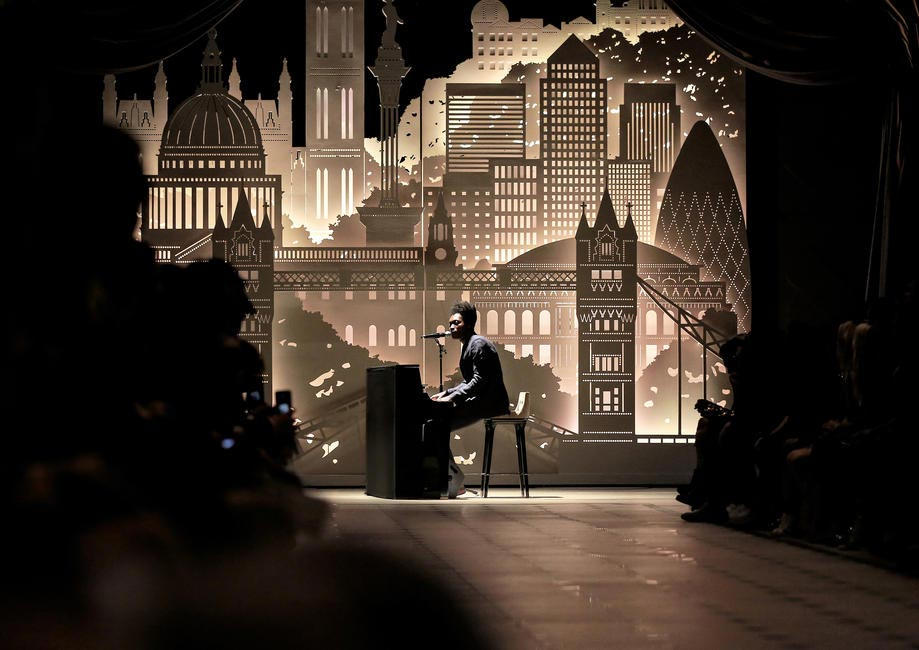 Benjamin Clementine performing live at the Burberry London in Los Angeles event