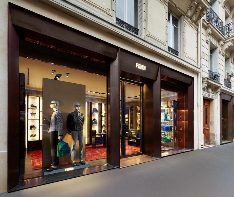 Fendi Mens boutique Paris Le Marais Facade