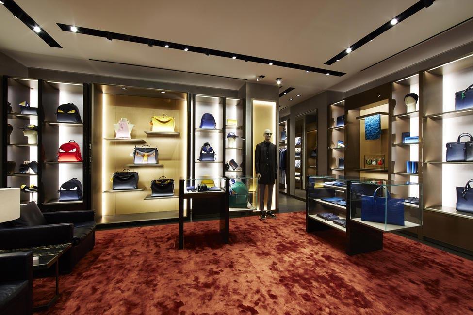 Inside the Fendi Mens boutique Paris Le Marais