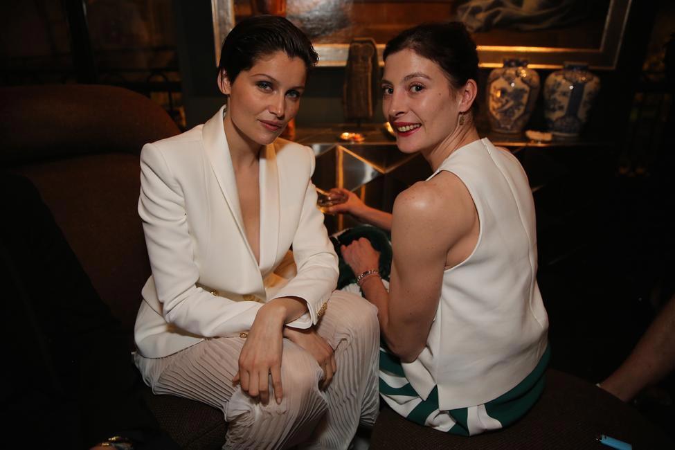 Laetitia Casta & Marie Agnes at the Fendi Dinner celebrating the new Menswear boutique in Paris