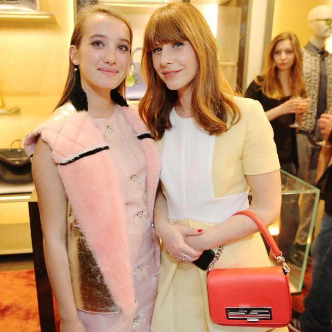 Leonetta Luciano Fendi & C�?cile Togni at the FENDI Menswear Boutique Opening in Paris