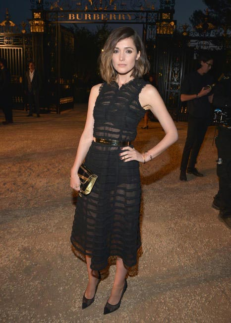 Rose Byrne wearing Burberry at the Burberry London in Los Angeles_ event.