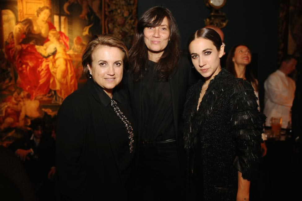 Silvia Fendi, Emmanuelle Alt & Delfina Delletrez Fendi at the Fendi Dinner