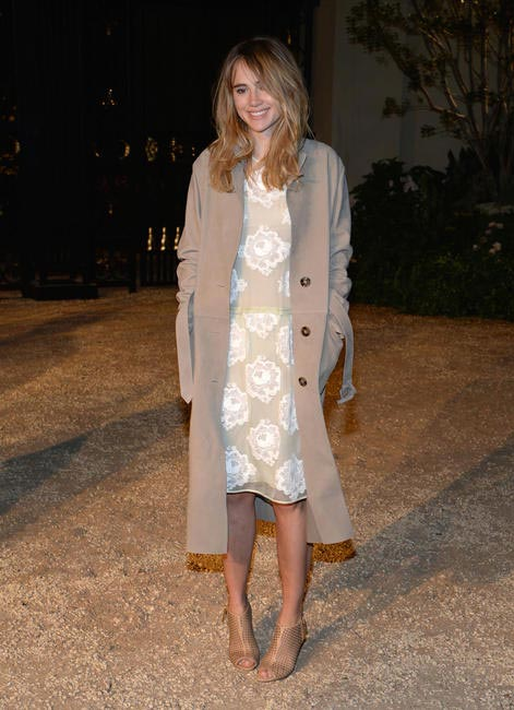 Suki Waterhouse wearing Burberry at the Burberry London In Los Angeles event.