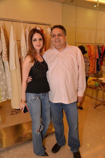 Sussane Khan with Sandeep Khosla