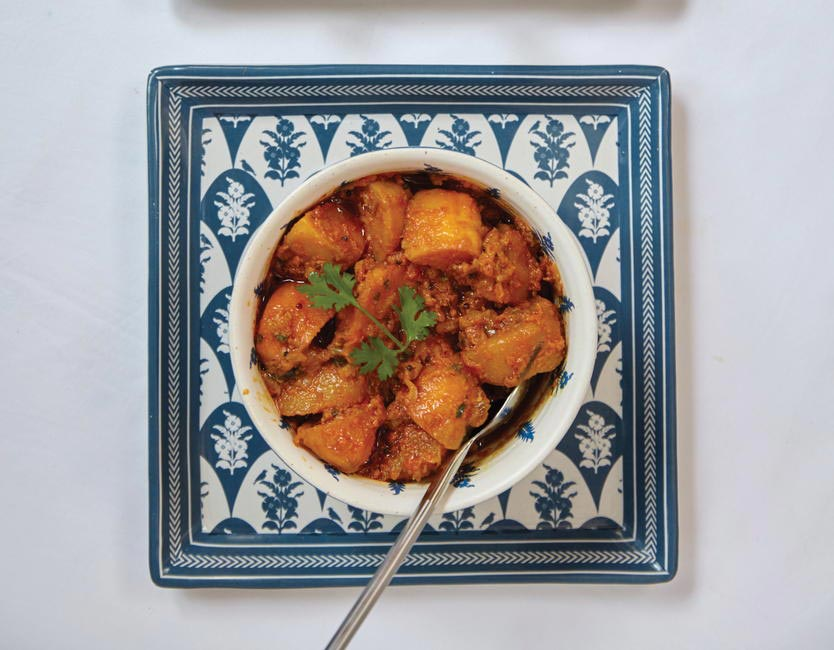 2. Aloo Chakna (Spicy potato vegetable)