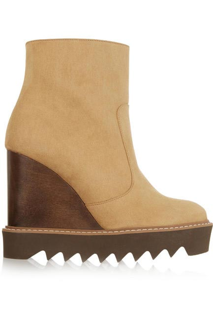 Faux suede boots, Stella McCartney