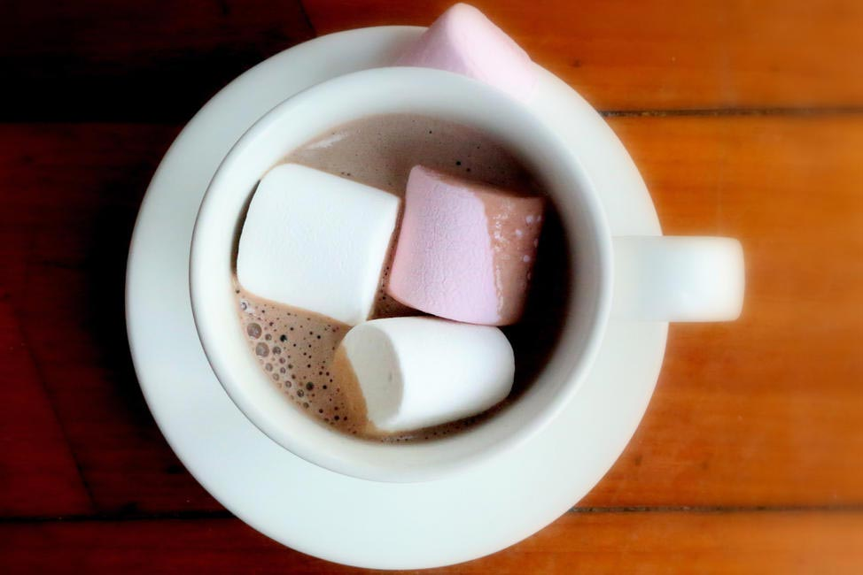 Dirty Hot Chocolate With Marshmallows at Salt Water Cafe