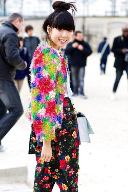 Susie Lau has always been an expert in mixing patterns and textures
