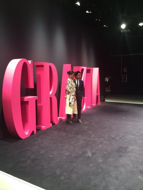 Ekta Rajani and Nimish Shah represent India at the Grazia Next Glam Award 2015