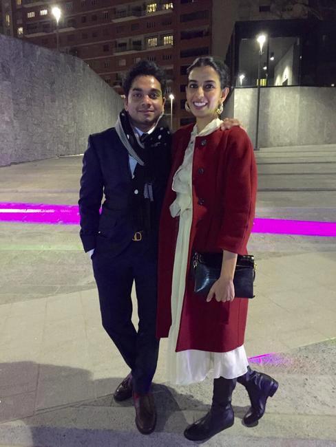 Ekta Rajani and Nimish Shah strike a pose