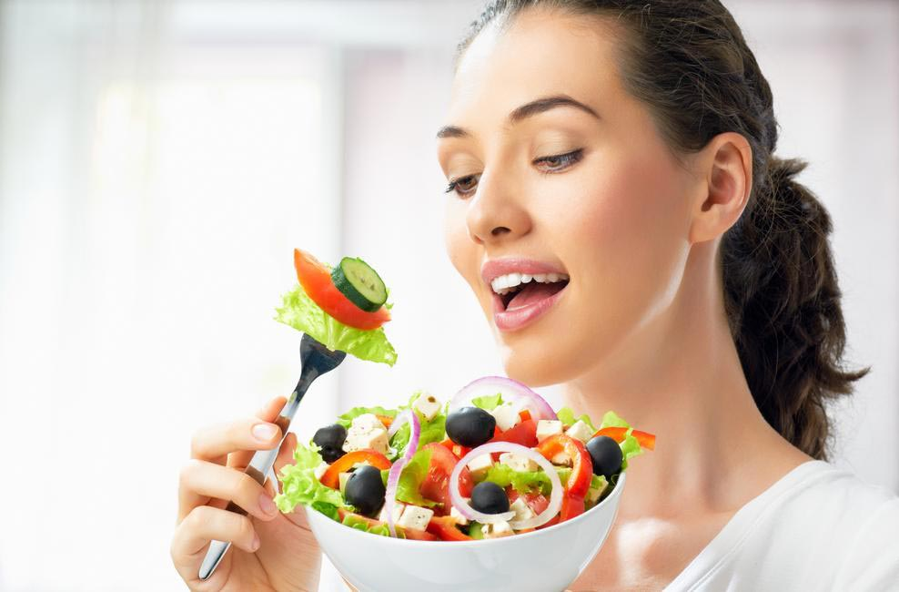 Instead of life-altering goals, set a bunch of smaller, doable ones like eating at least one portion of salad or fruit a day