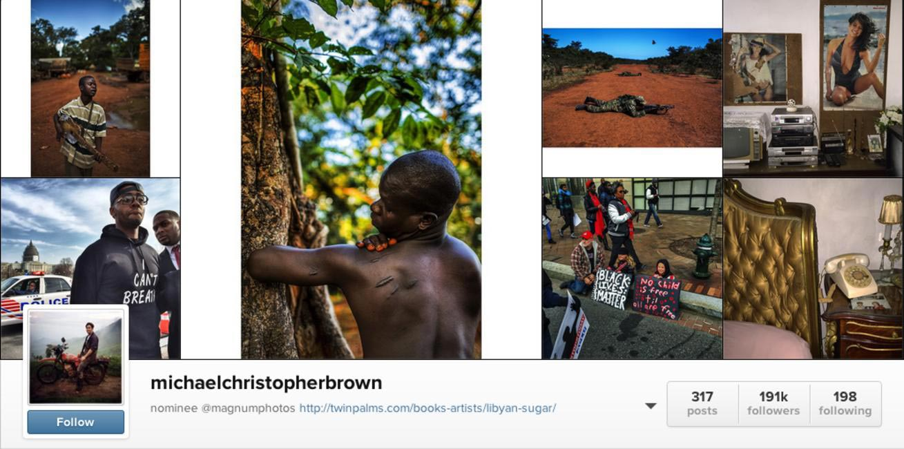 Photo-journalist Michael Christopher Brown is on the roster of the prestigious Magnum Photos