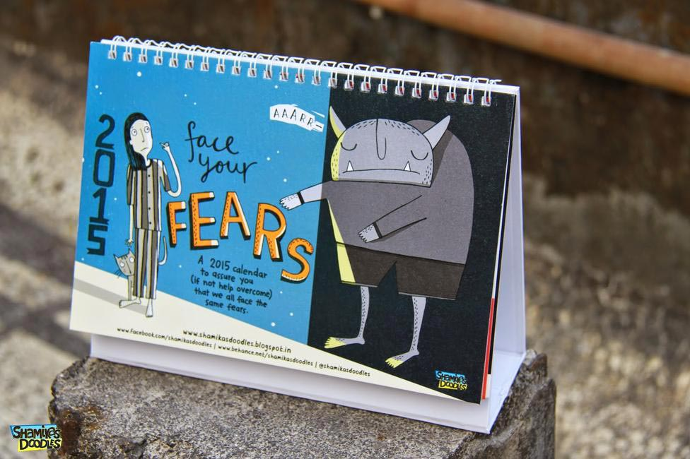 Today's a good day to buy a pretty annual calendar like this one from Shamika's Doodles