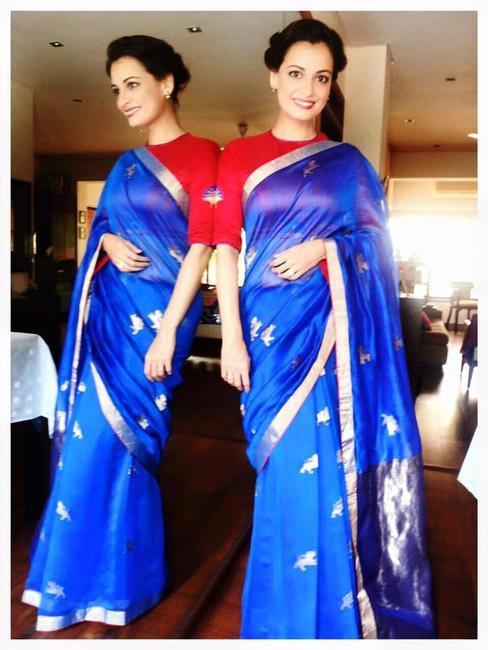 Dia Mirza stuns in a Raw Mango sari