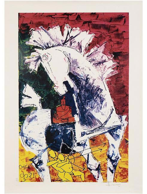 Limited Edition M.F. Husain-signed Serigraphs can now be
