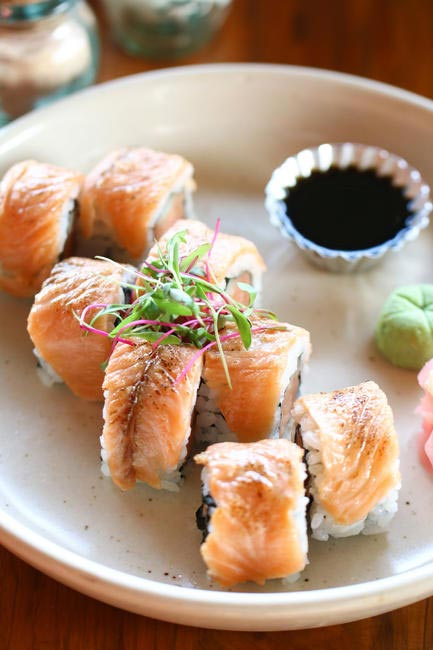 Spicy Salmon and Dill Rolls