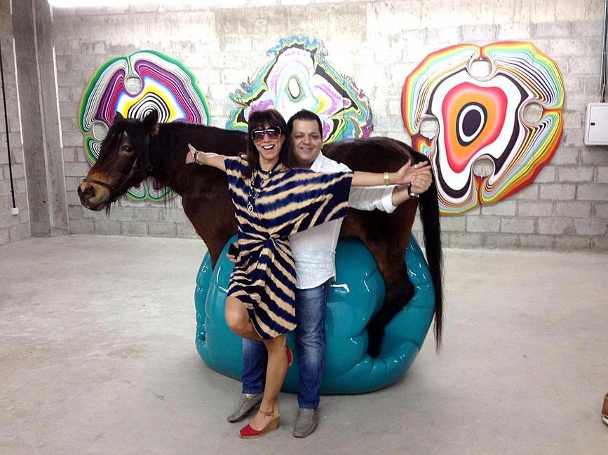 With Malini Ramani at Art Dubai