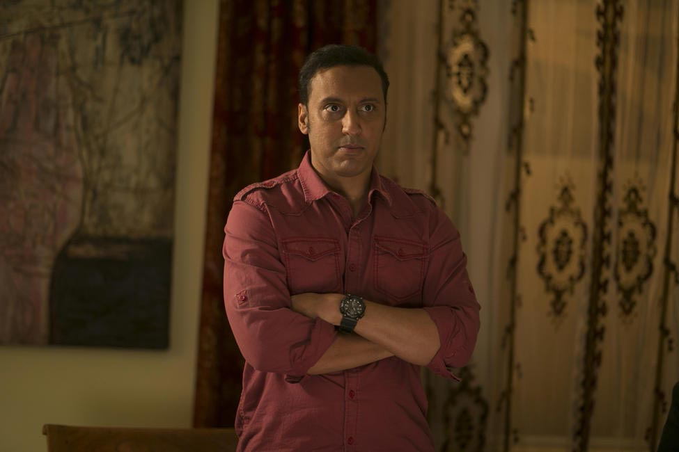 Aasif Mandvi plays Rafiq Massoud on The Brink