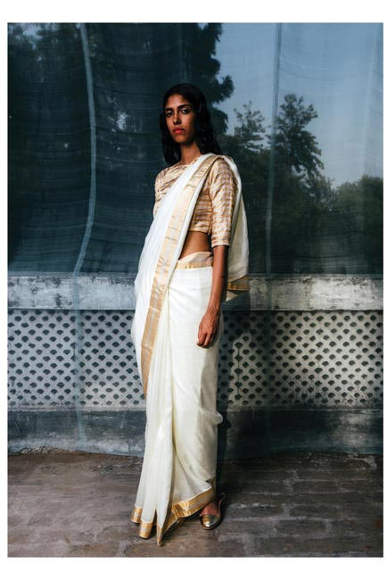 Gold against silk background