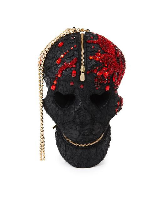 Manish Arora Paris AW 15 Blood Embroidered Skull Bag on Exclusively.com, Rs. 62425