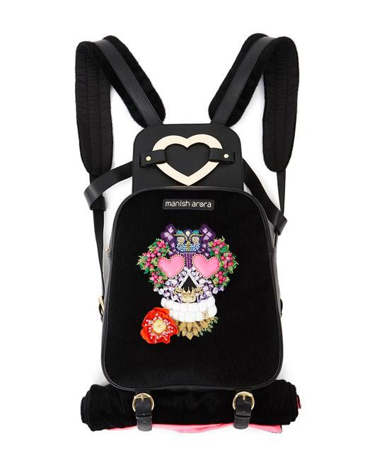 Manish Arora Paris AW 15 Faux Fur Skull Embroidered Backpack (Black) on Exclusively.com, Rs. 57200