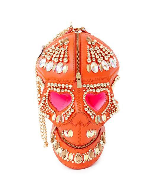Manish Arora Paris AW 15 Pop Beaded Skull Bag on Exclusively.com, Rs. 71500