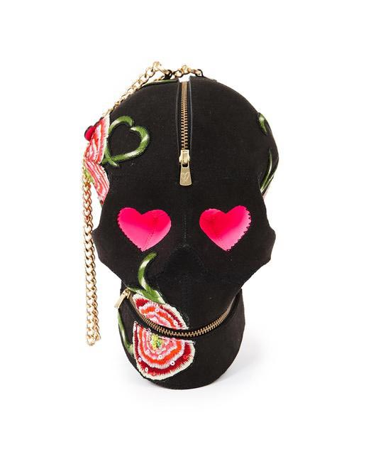 Manish Arora Paris AW 15 Poppy Goth Skull Bag on Exclusively.com, Rs. 62425