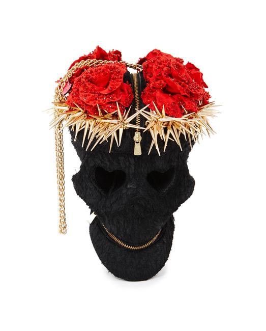 Manish Arora Paris AW 15 Roses and Spiker Skull Bag on Exclusively.com, Rs. 101200