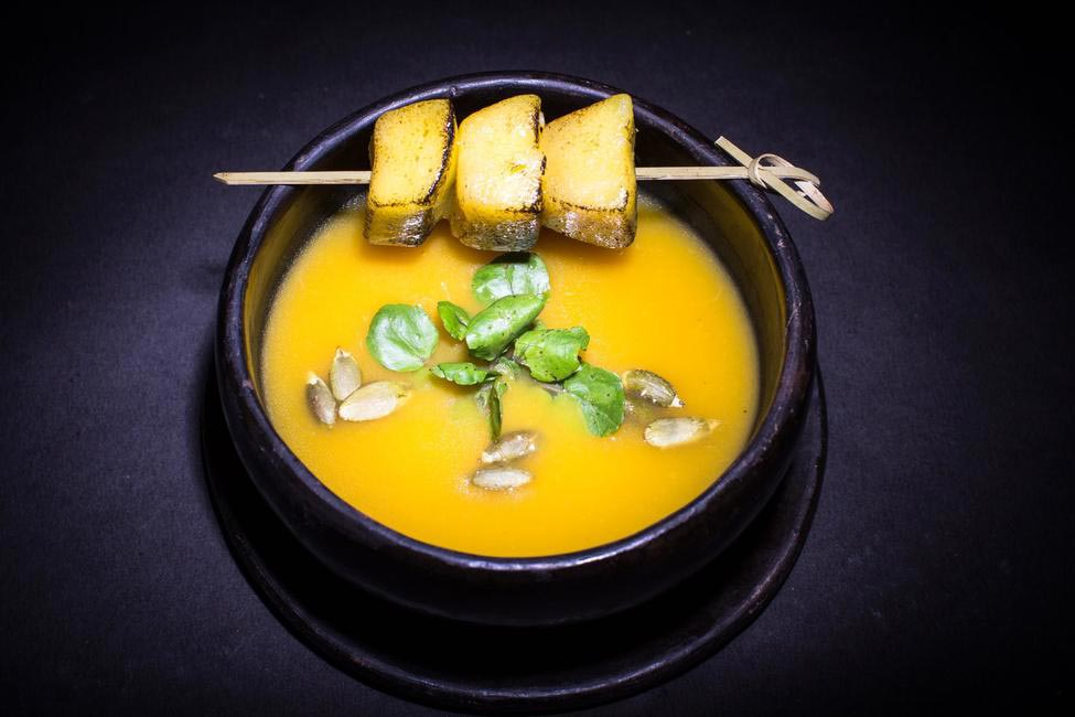 Sakura Wood Smoked Pumpkin soup